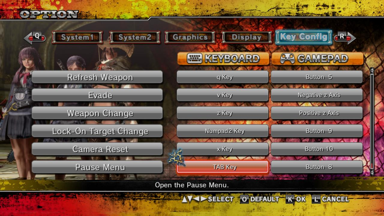 Onechanbara Z2: Chaos Keyboard Controls Guide