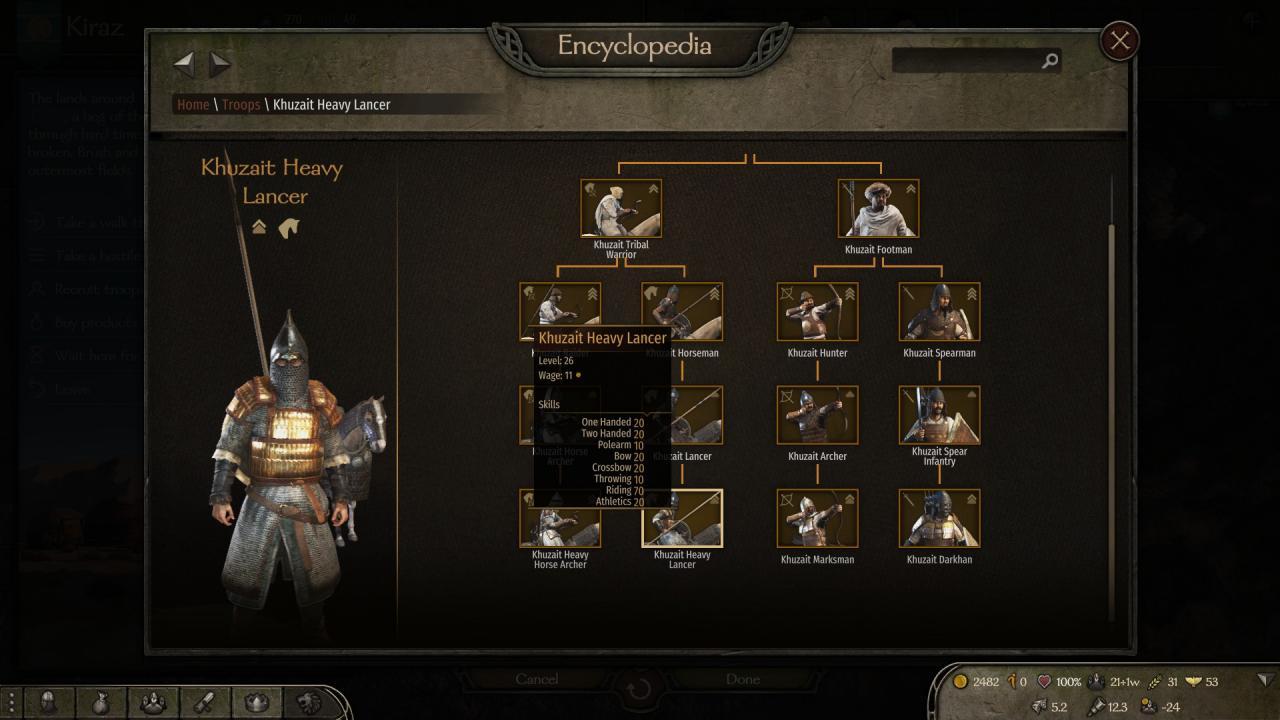 Mount & Blade II Bannerlord: Khuzait Heavy Lancer Fix