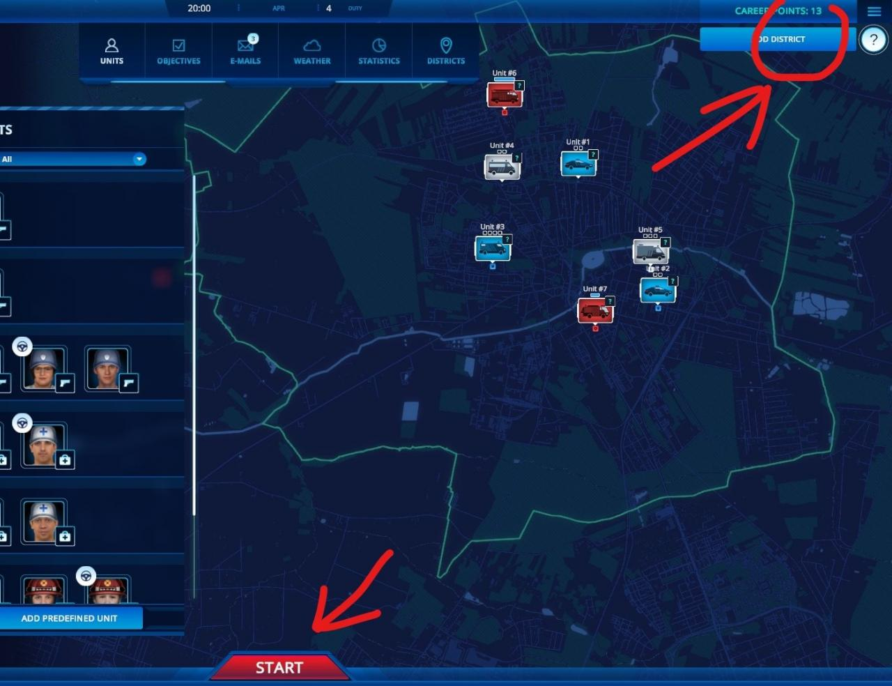 112 Operator: How to Play Only One District?