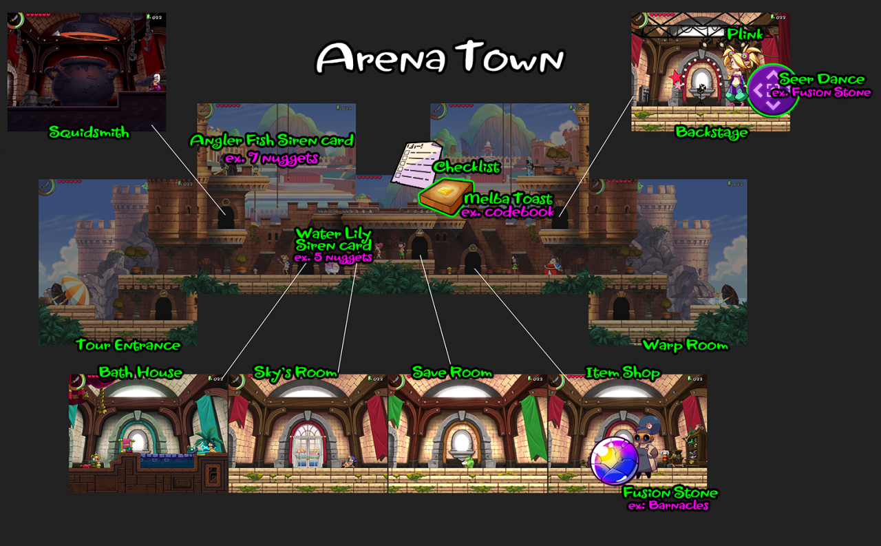 Shantae And The Seven Sirens All Maps Guide (High Resolution)
