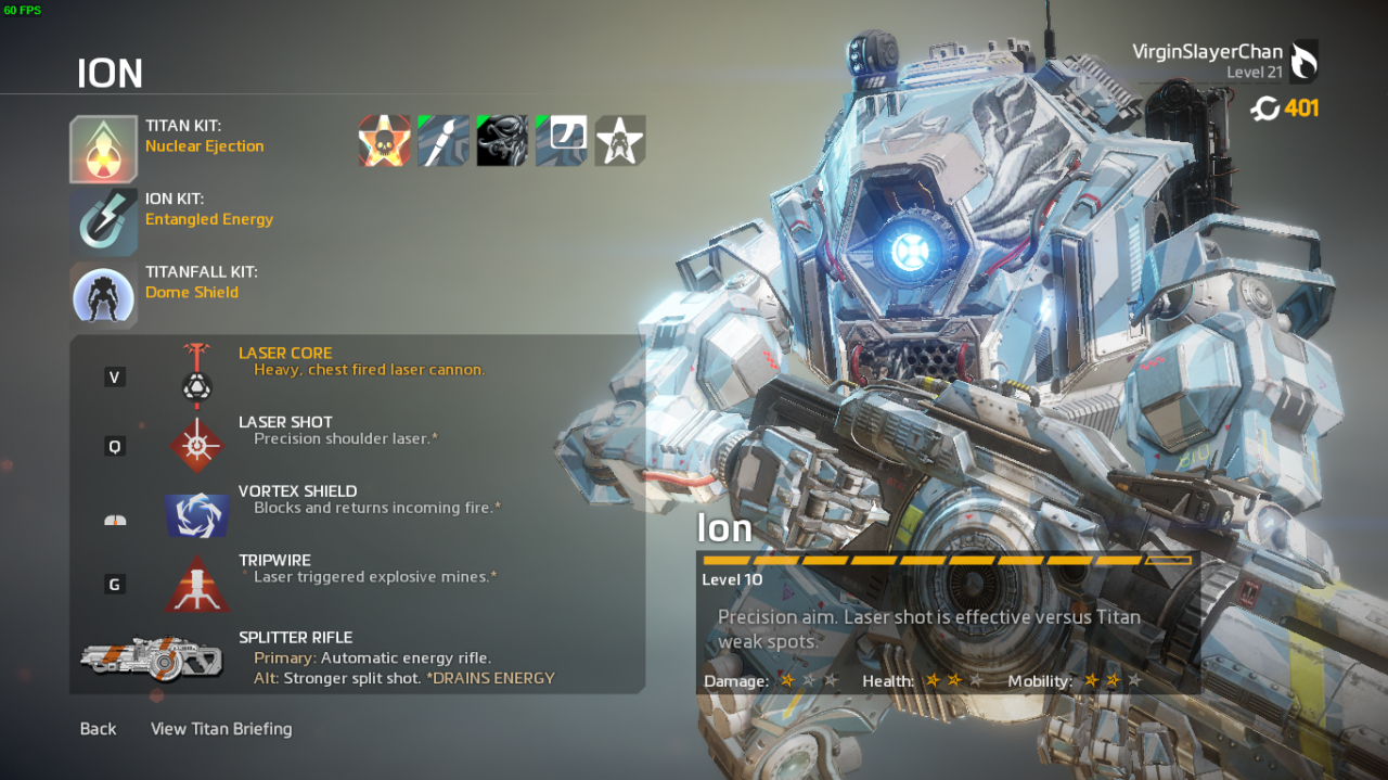 Titanfall 2 Frontier Defense Titan's builds 2200