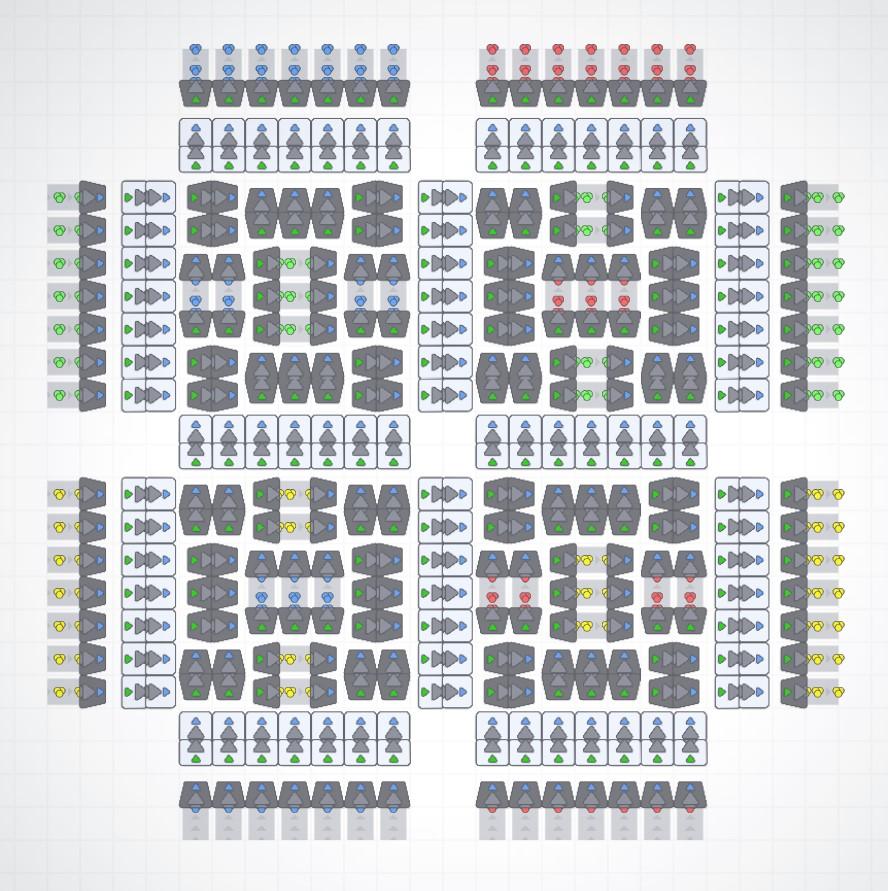 shapez.io Bulk Conveyor System Solutions (BCSS)