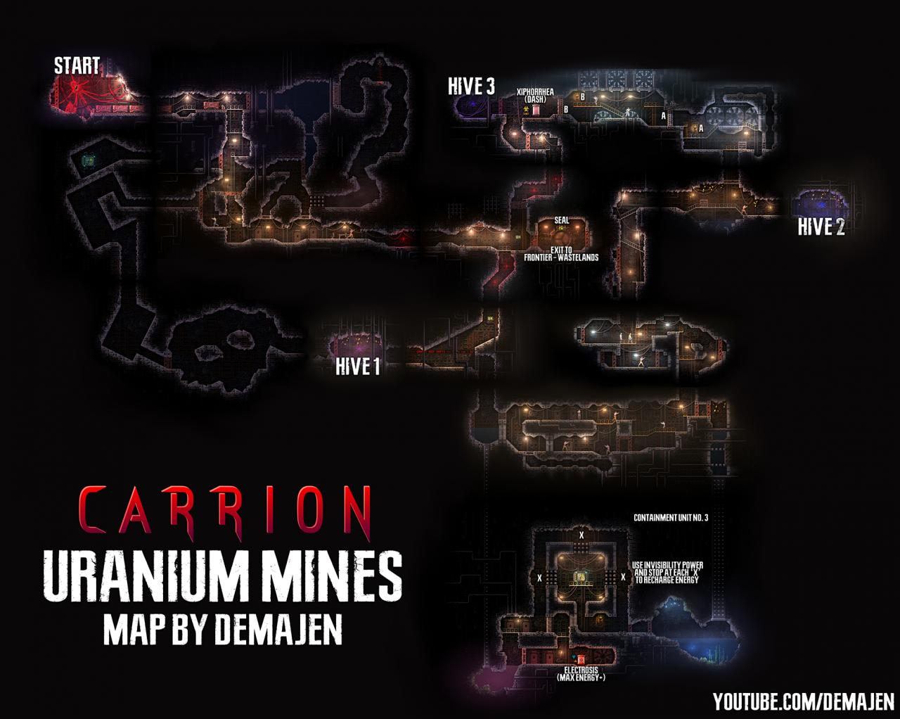 Carrion Maps of All Areas (High Resolution)