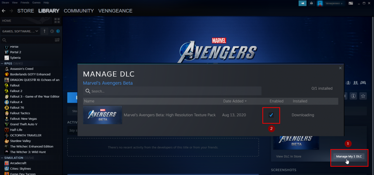Marvel's Avengers Beta Enable Your High Resolution Texture Pack