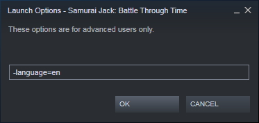 Samurai Jack: Battle Through Time How to Change Language