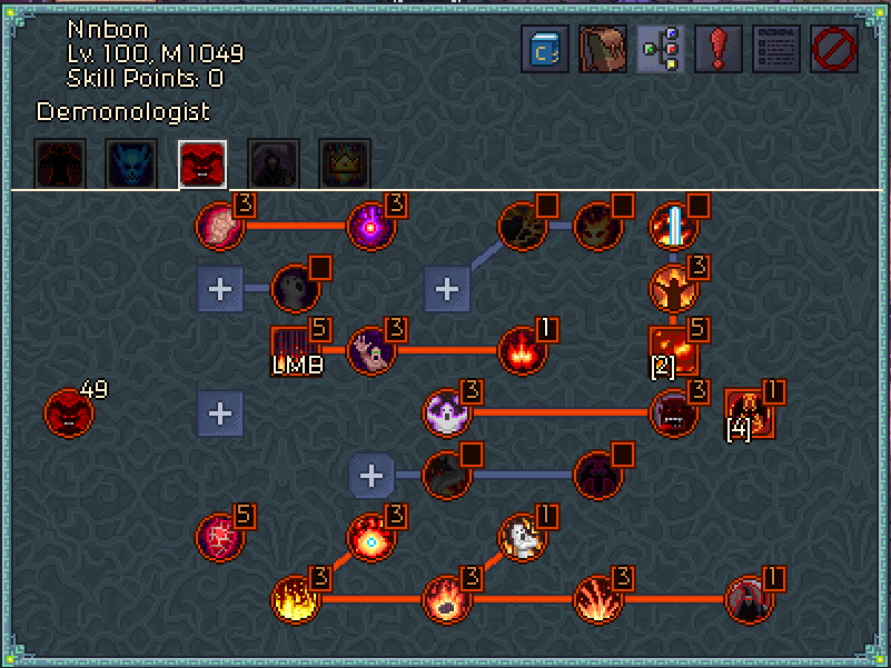 Chronicon Burning Hells Warlock Build (Endless 40+)
