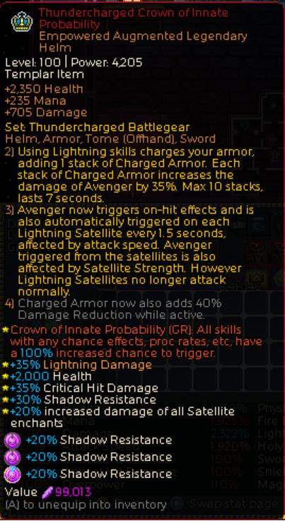 Chronicon Thundercharged Avenger Build