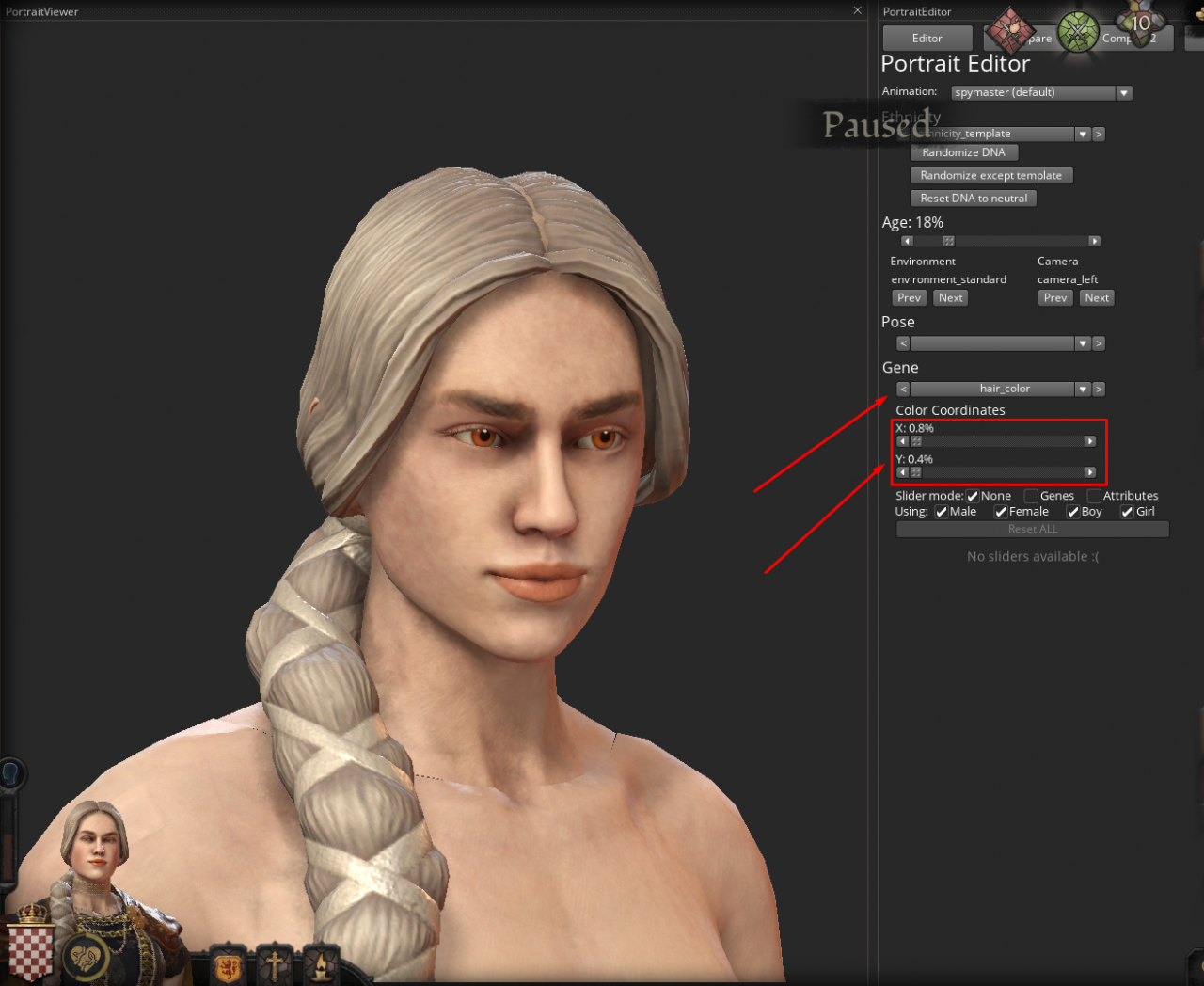 Crusader Kings III Edit Character Appearance - DNA Edit Guide