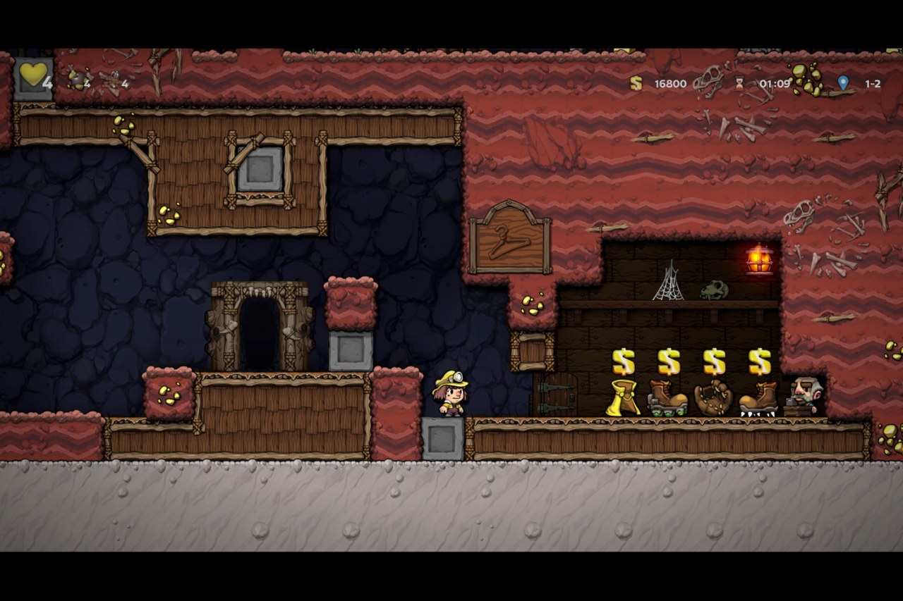 Spelunky 2 How to Rob Shopkeeper Easily