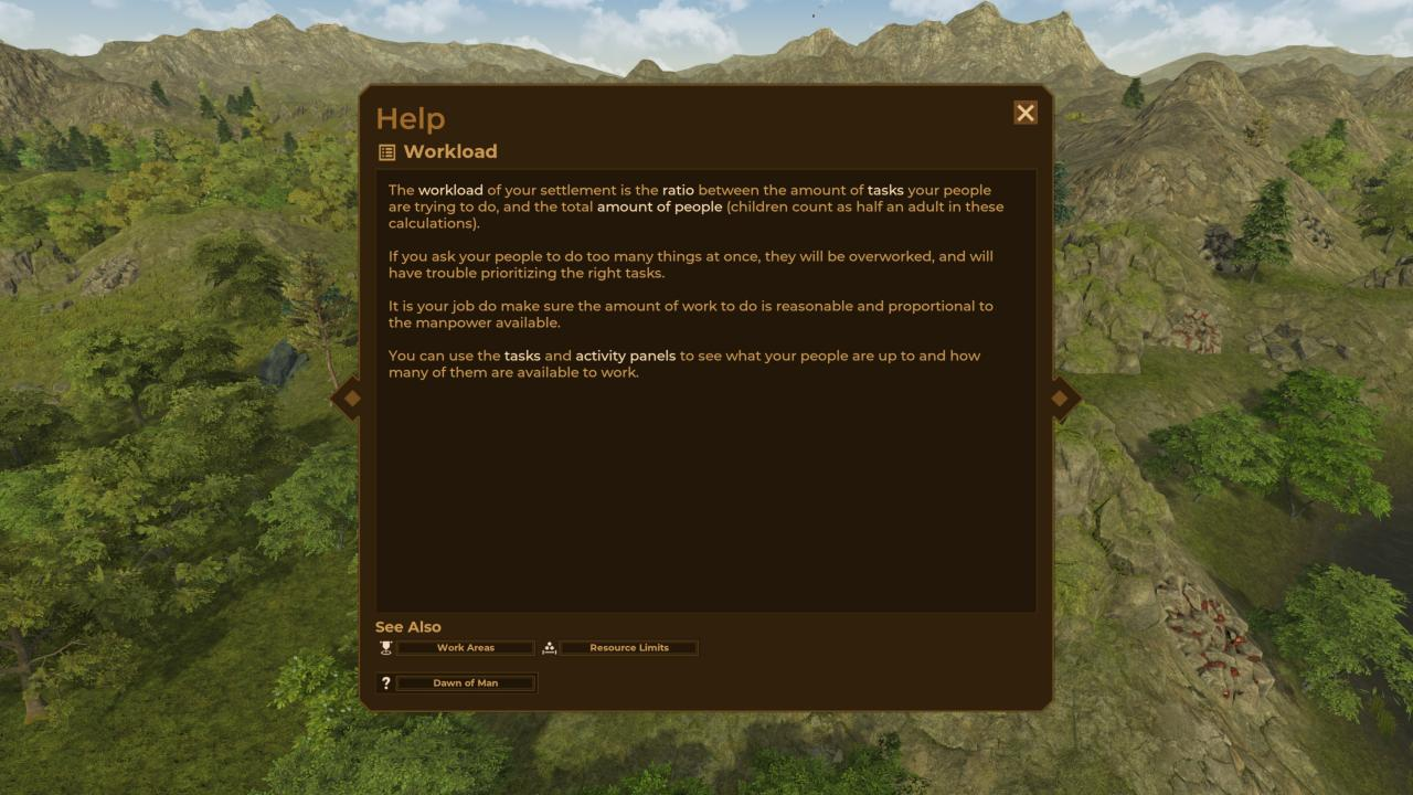 Dawn of Man The Basics Workload Guide