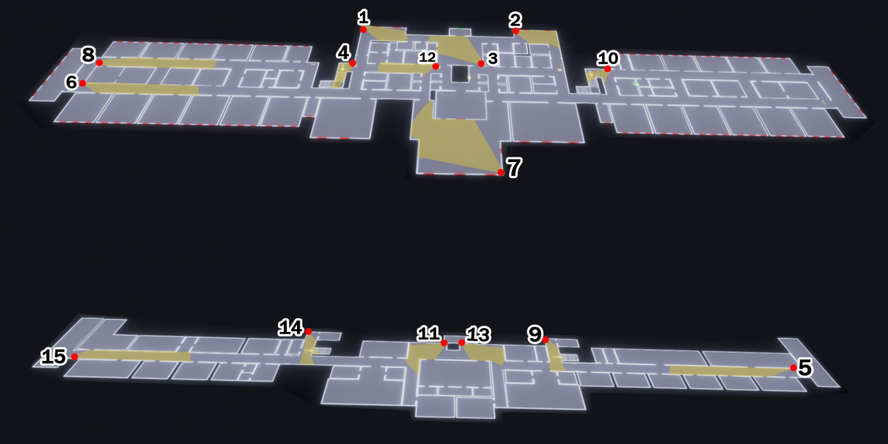 Phasmophobia Asylum Camera Location Map