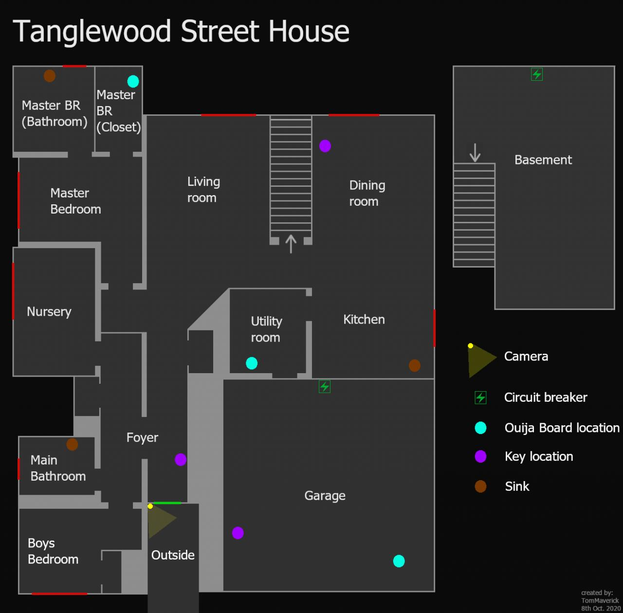 Phasmophobia Tanglewood Street House Map