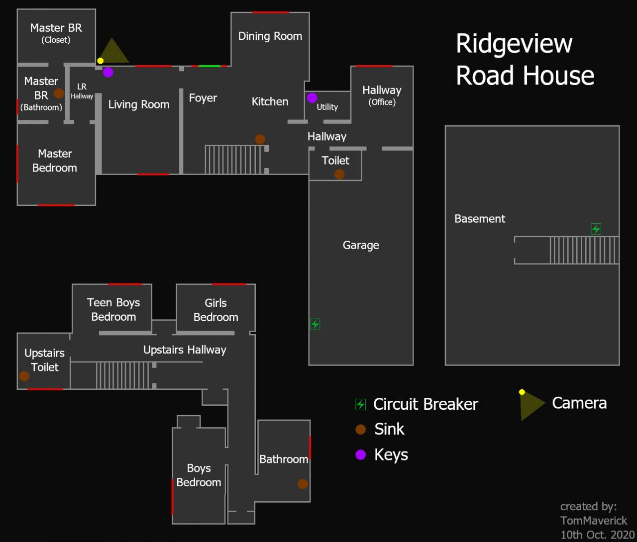 Phasmophobia Ridgeview Road House Map