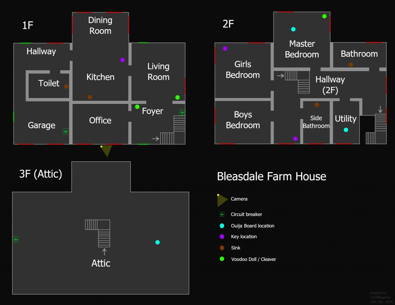 Phasmophobia Bleasdale Farmhouse Map