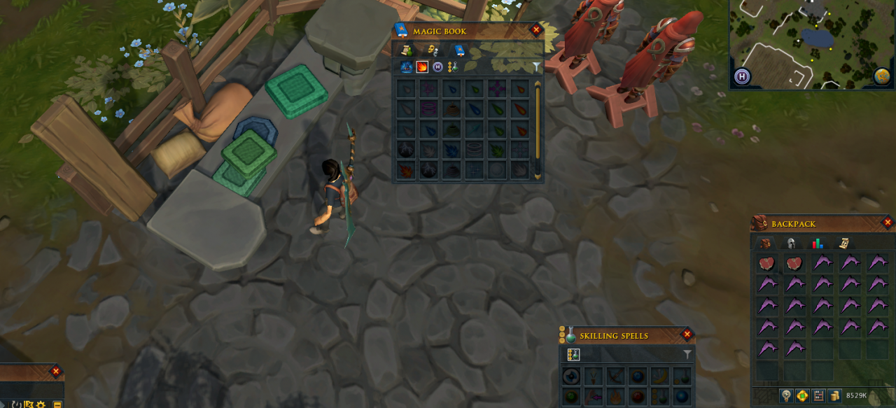 RuneScape How to Turn in Place