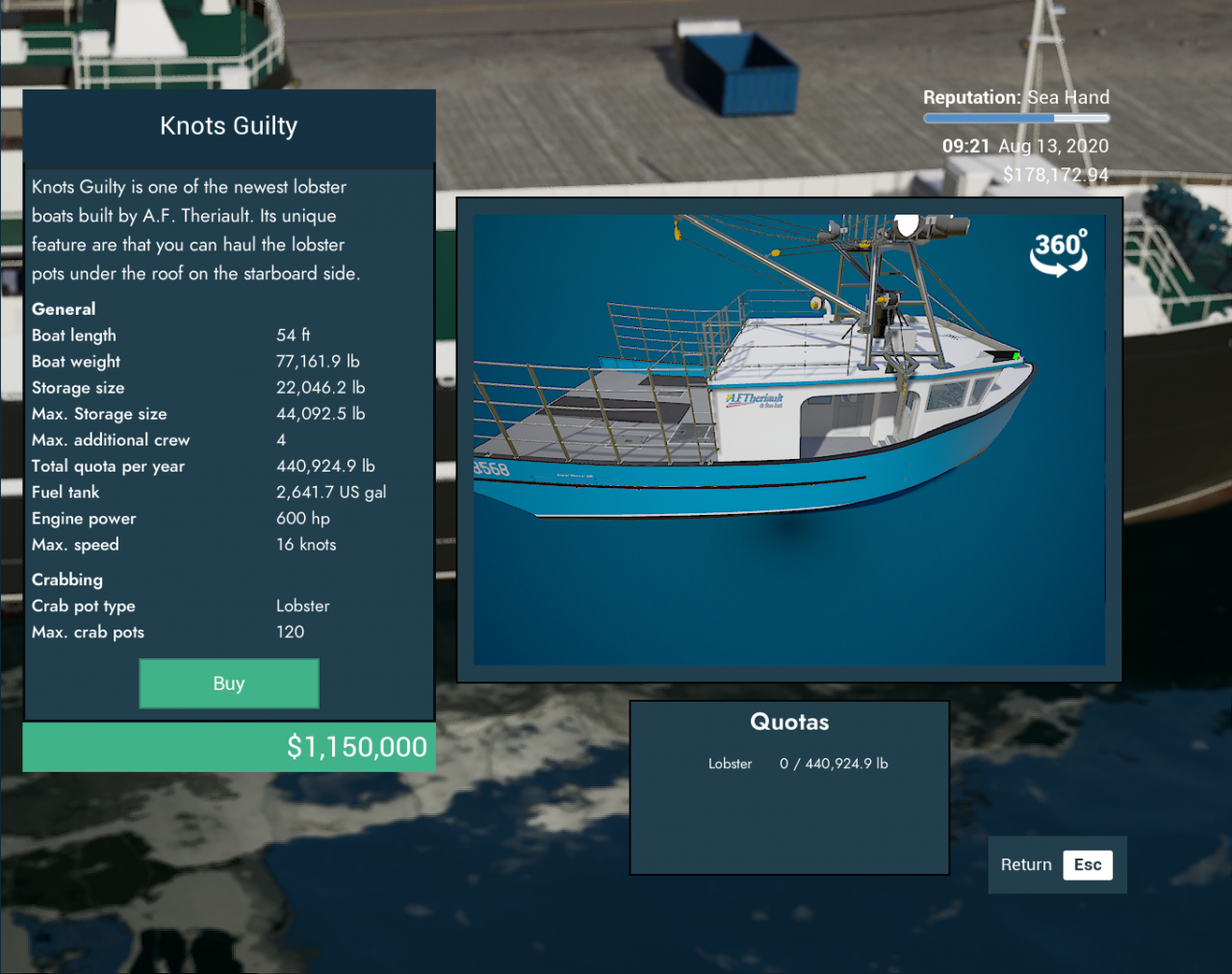 Fishing: North Atlantic Ship Guide (Specs, Purchase Locations Riggings&Type)