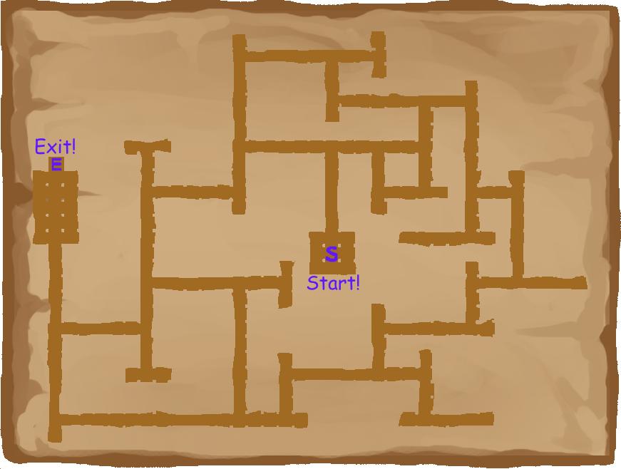 Unicorn Tails Purple Maze Map
