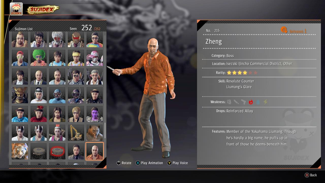 Yakuza: Like a Dragon Complete Sujimon Guide
