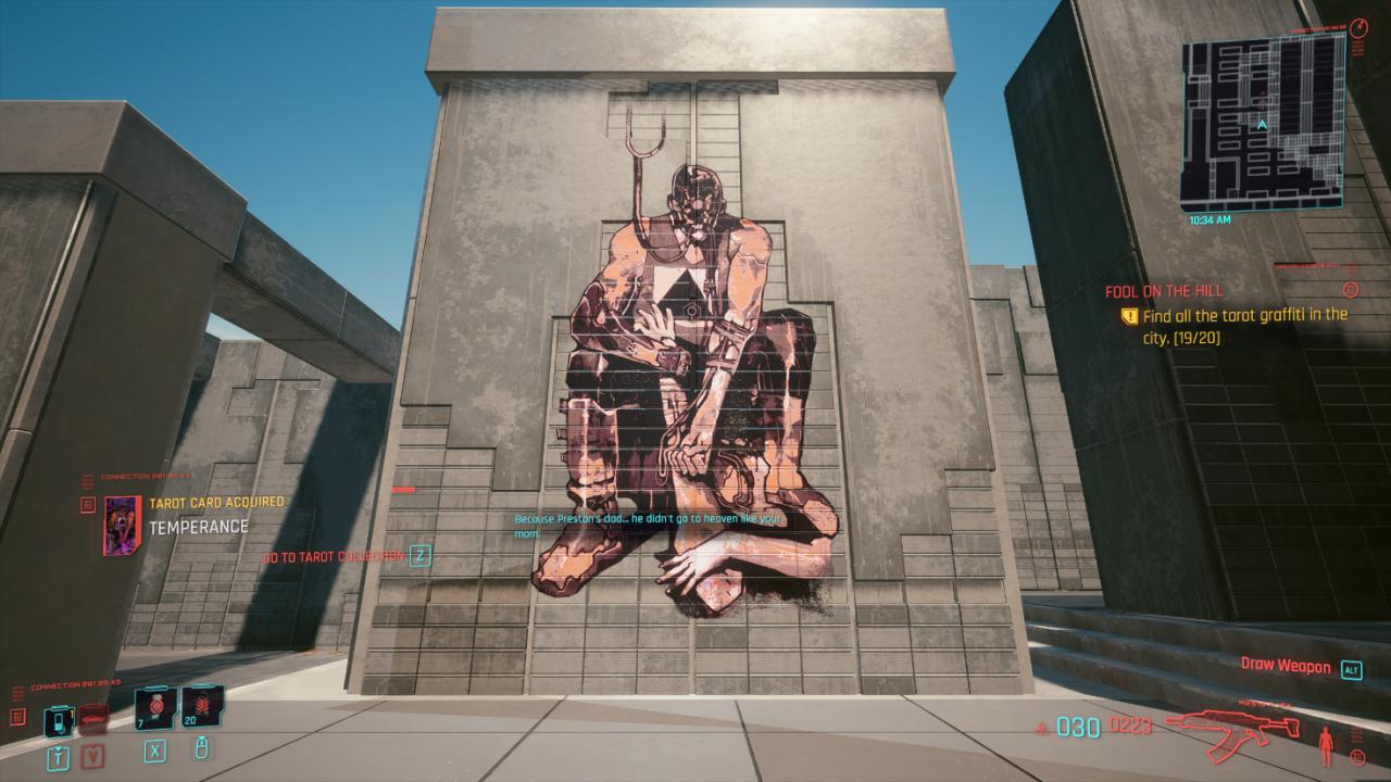 Cyberpunk 2077 All Tarot Card Graffiti Location Guide