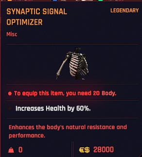 Cyberpunk 2077 Legendary Cyberware Guide