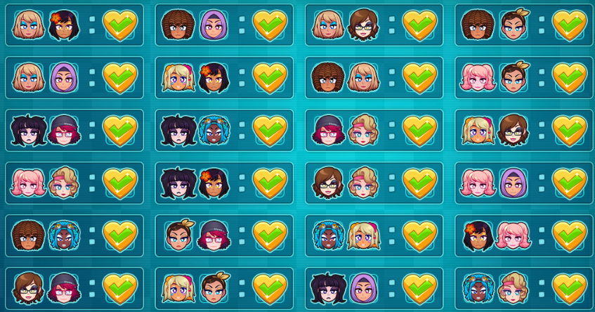 HuniePop 2: Double Date All Pairs Of Girls Guide