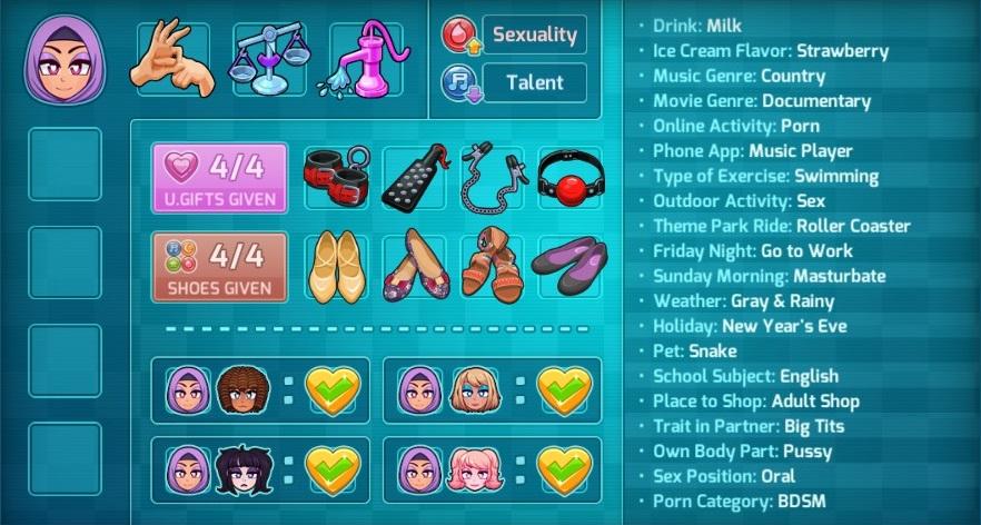 HuniePop 2: Double Date All Girls100% Guide