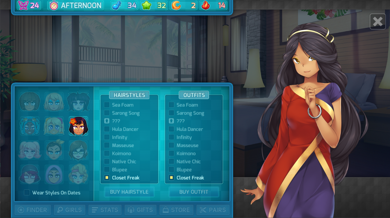 HuniePop 2: Double Date Huniepop 1 Reference Outfits