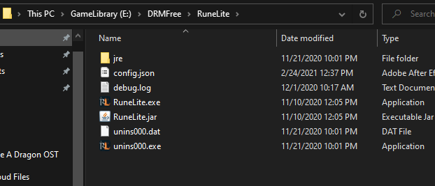 Old School RuneScape Launch RuneLite Without Replacing Files