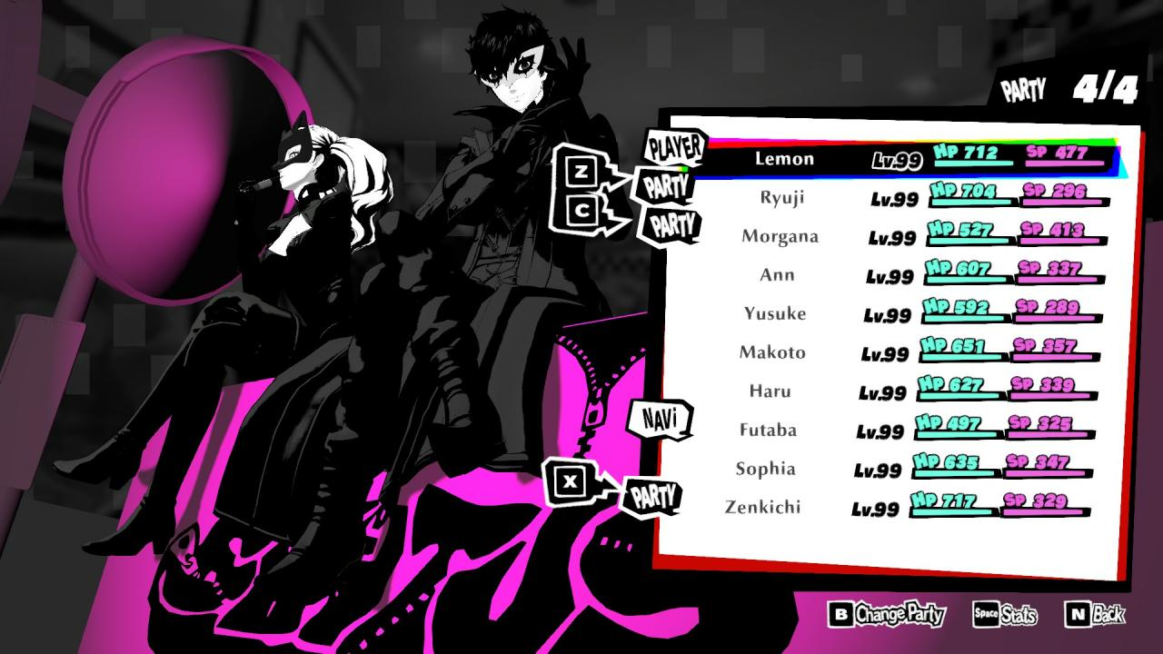 Persona 5 Strikers Farming BOND EXP with Metatron Sidequest (Post Game)