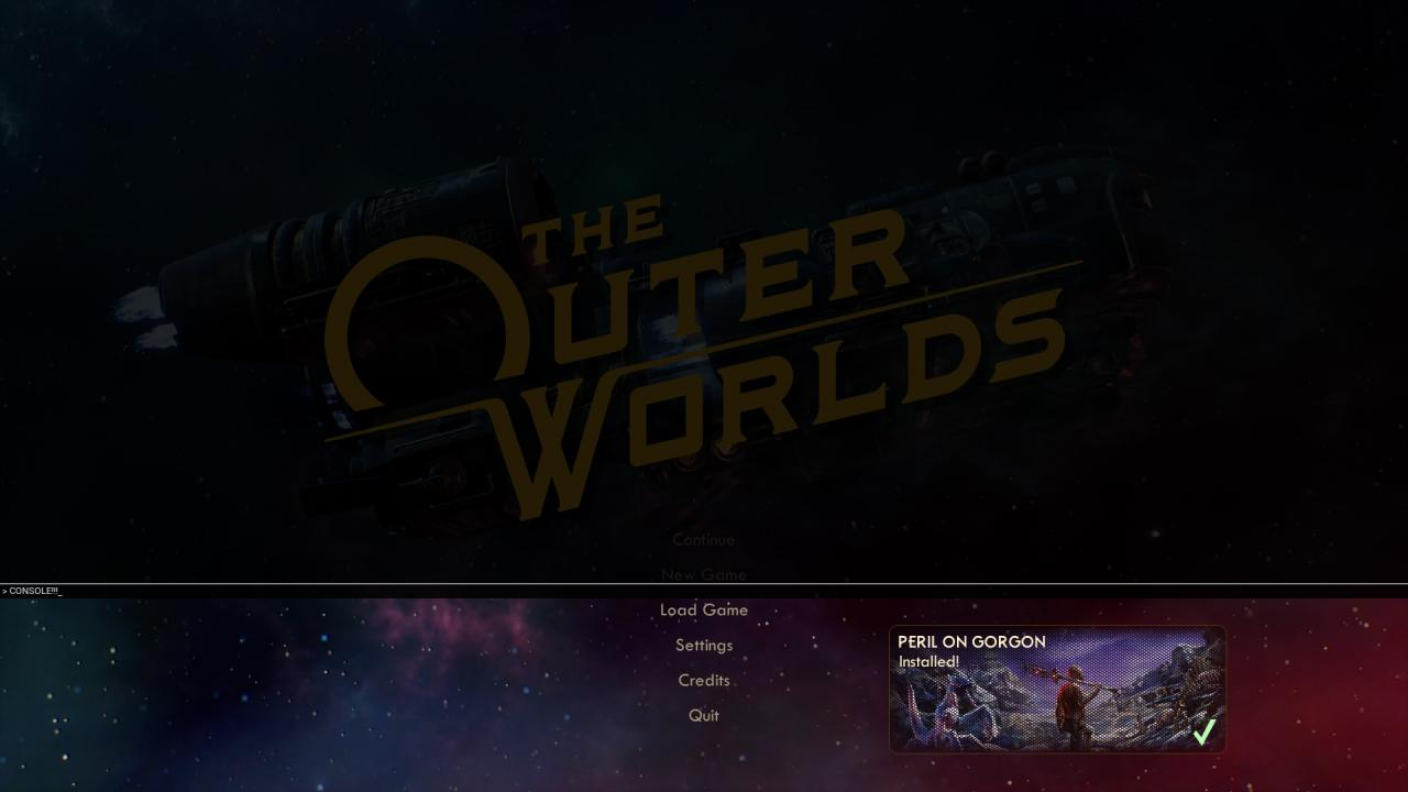 The Outer Worlds How to Enable Console