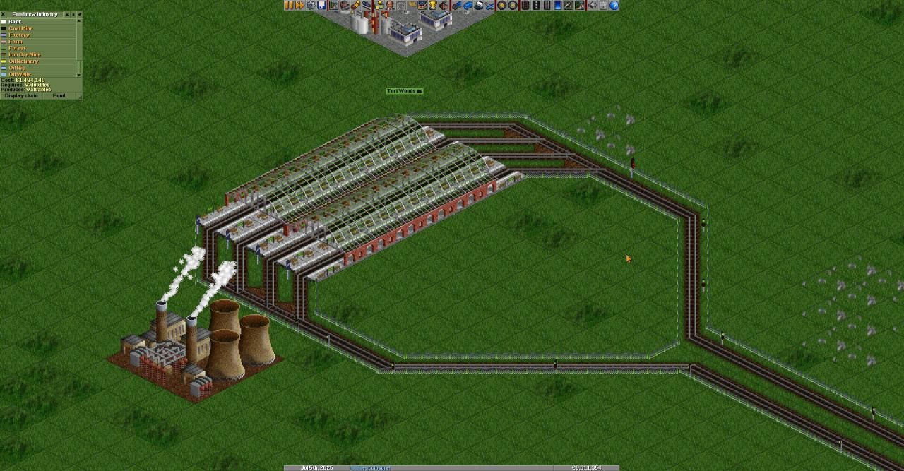 OpenTTD Simple Train Station Configurations