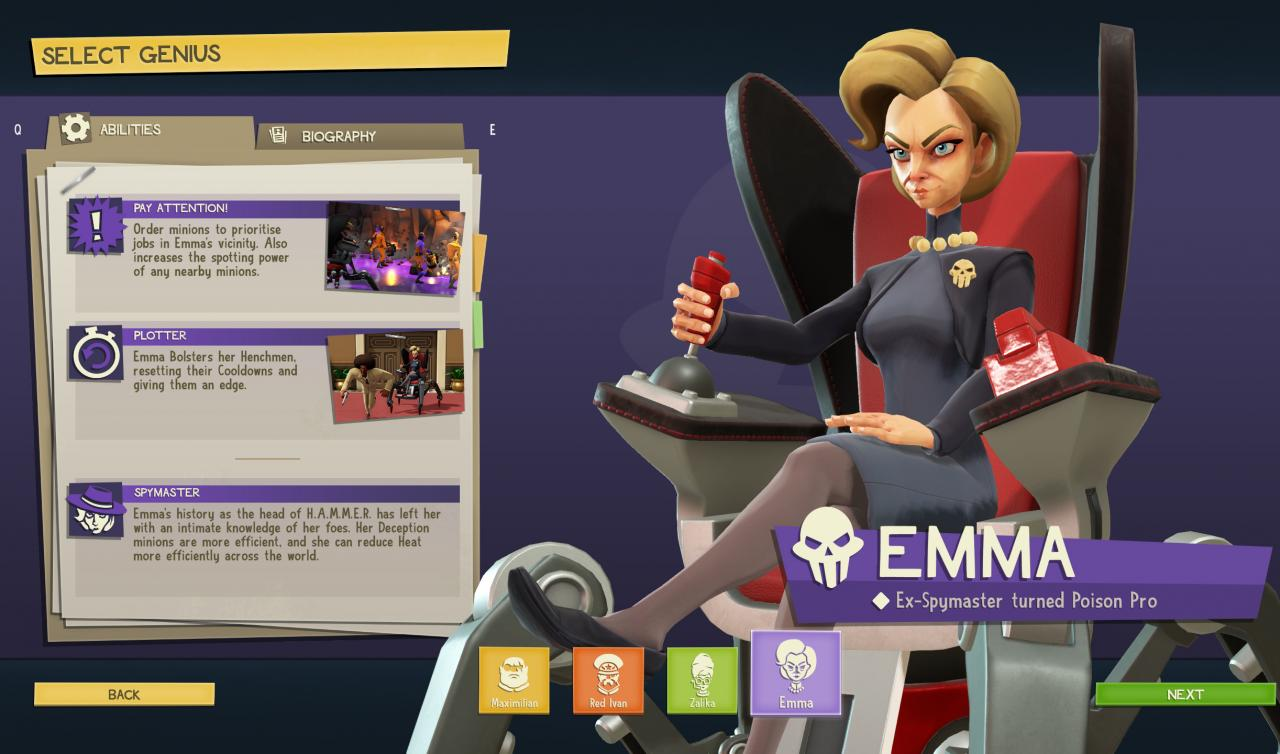 Evil Genius 2 Complete Henchmen List Guide