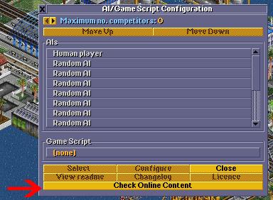 OpenTTD Nostalgia 1995 Mode AI & Game Settings