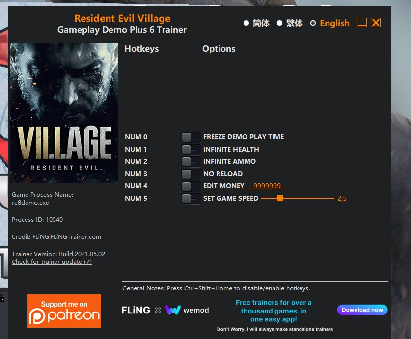 Resident Evil Village Gameplay Demo Plus 6 & 13 Trainer (Download & How to Use)