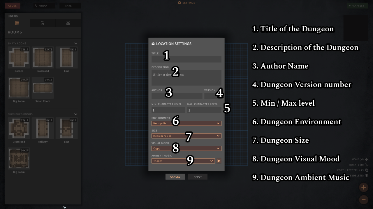 SOLASTA Crown of the Magister Dungeon Maker User Manual