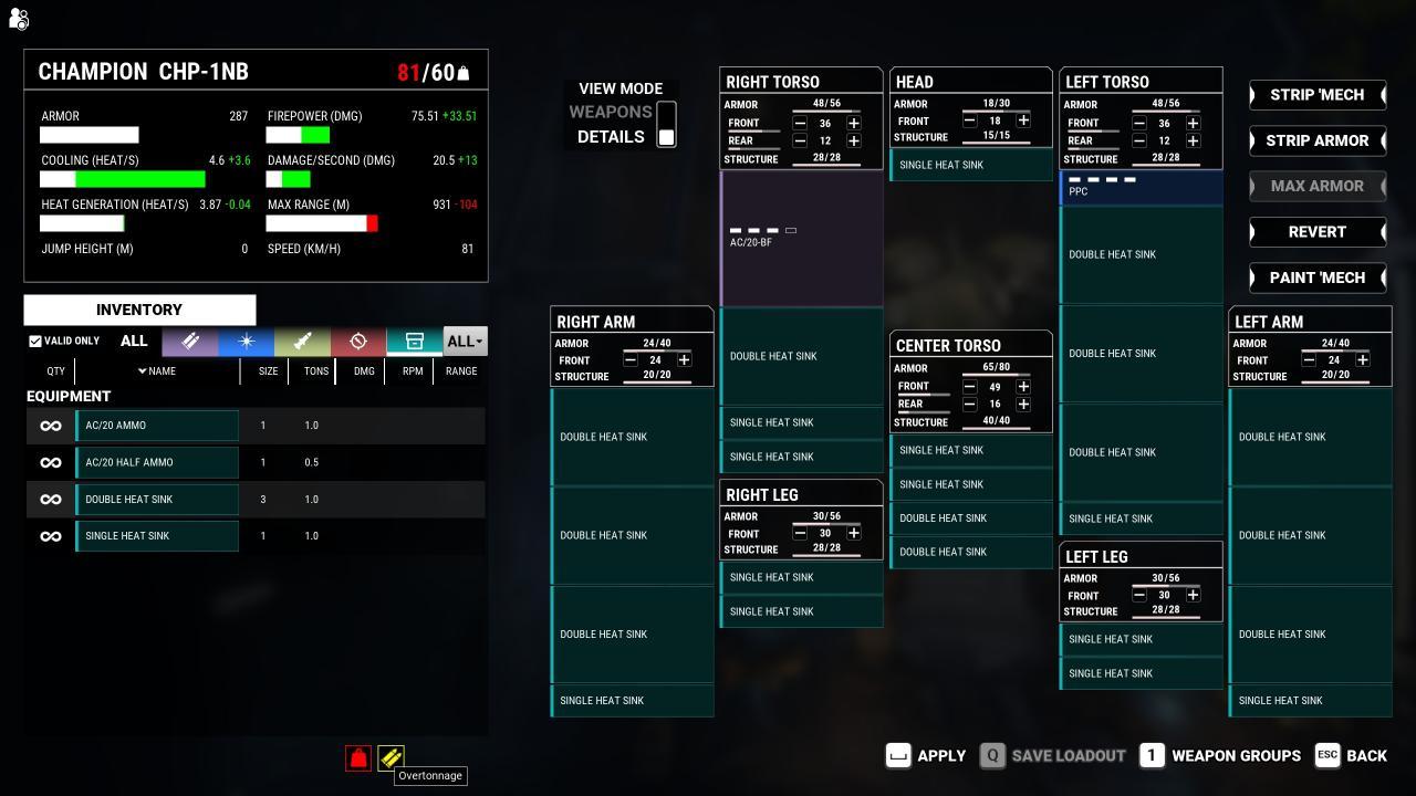 MechWarrior 5: Mercenaries All Battlemech Spreadsheet (DLC Included)
