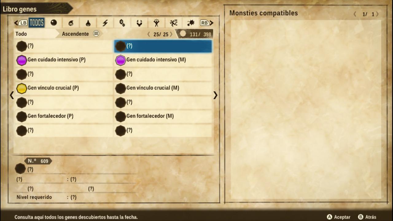 Monster Hunter Stories 2: Wings of Ruin Monster Genetic Guide