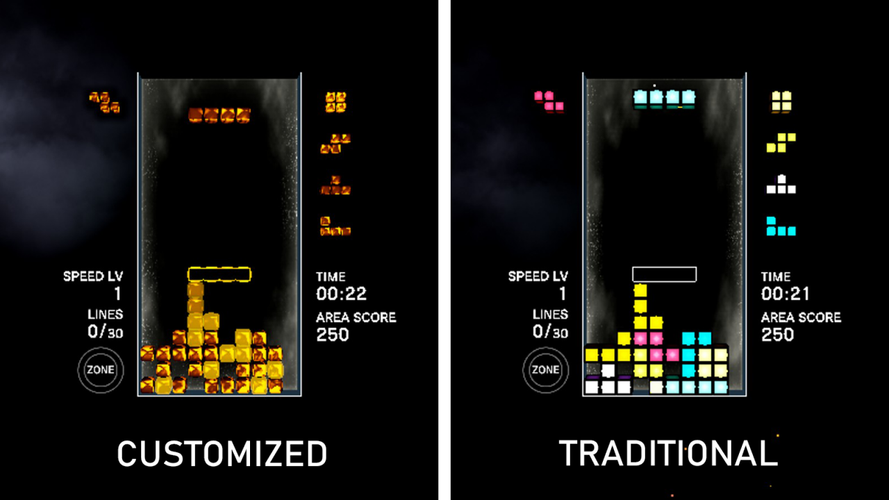 Tetris® Effect: Connected Starting Settings and Small MP Notes