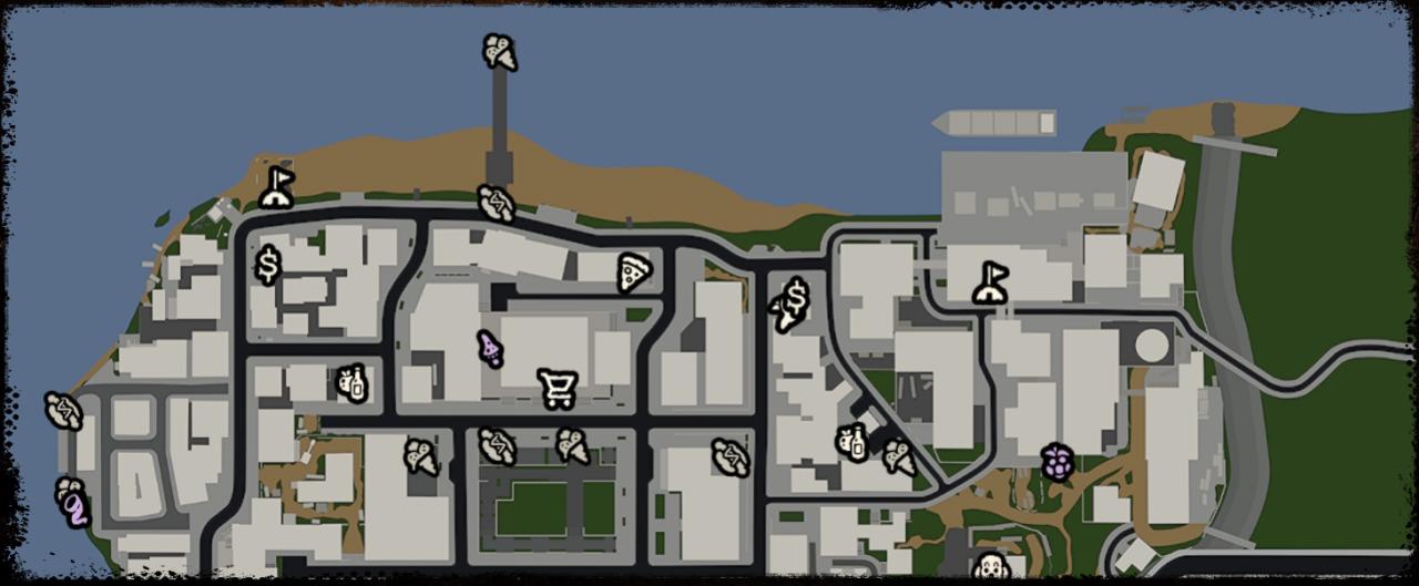Bum Simulator Complete Base Locations Map