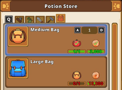Kitaria Fables How to Get More Inventory Space