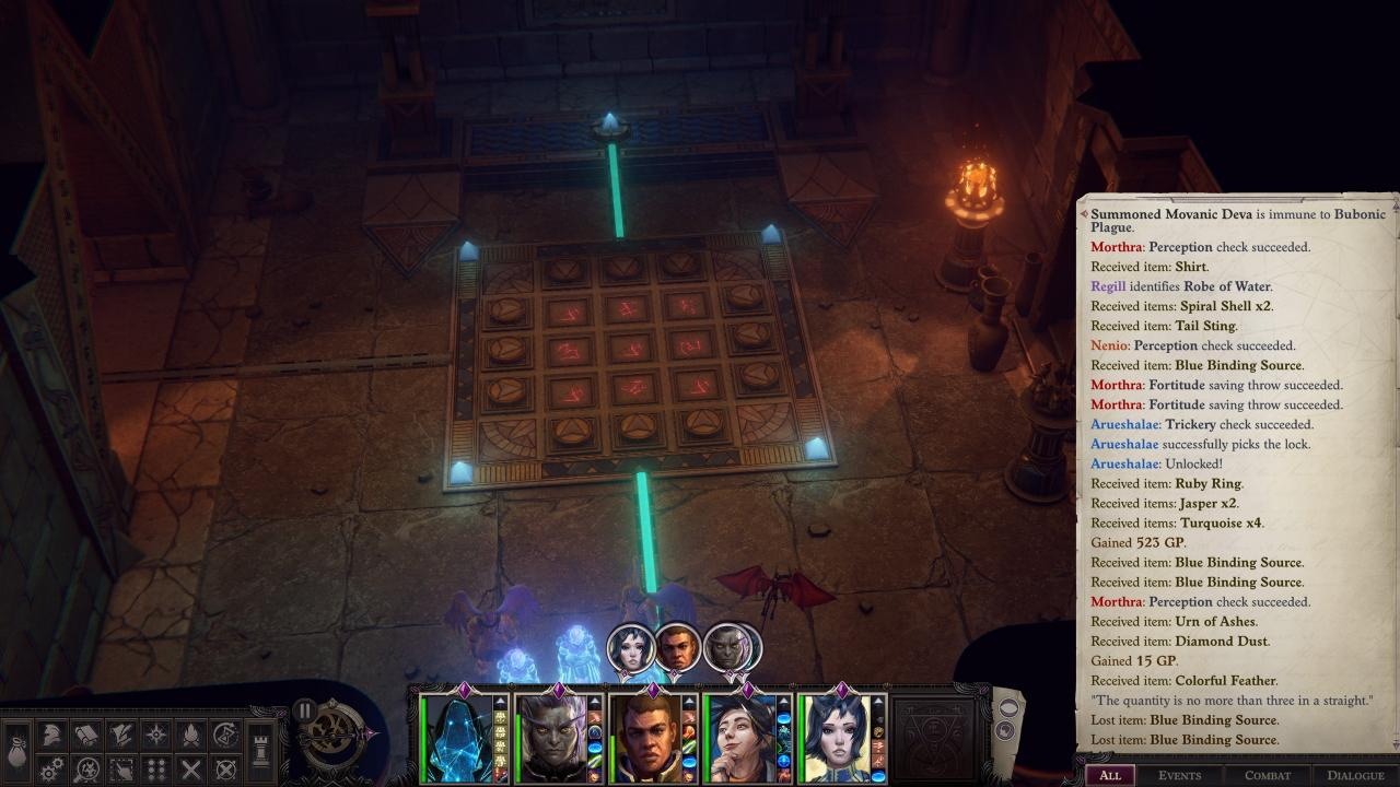 Pathfinder: Wrath of the Righteous Enigma Puzzle Solution