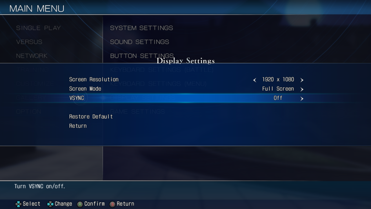 MELTY BLOOD: TYPE LUMINA How to Fix Game Speed